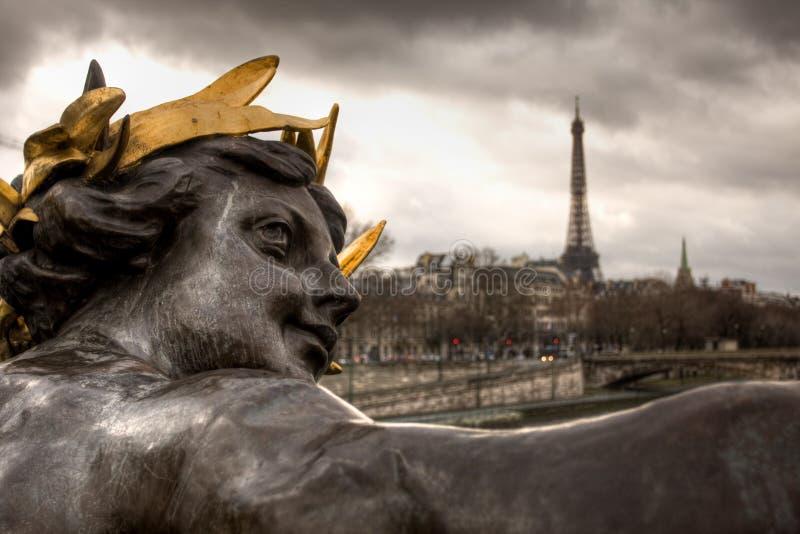 Αλέξανδρος η τρίτη γέφυρα στο Παρίσι στοκ εικόνα