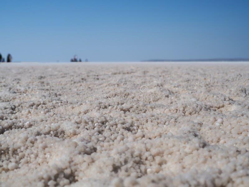Αλατισμένα μόρια στην αλατισμένη λίμνη στην Τουρκία στοκ φωτογραφία