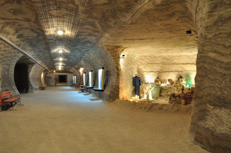 αλατισμένος υπόγειος μ&omi στοκ φωτογραφίες