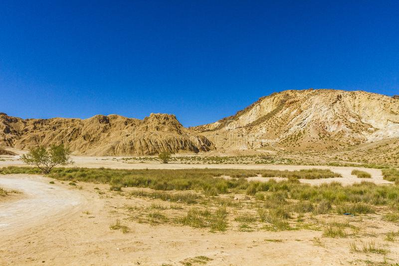 Αλατισμένο βουνό πετρών στοκ εικόνες