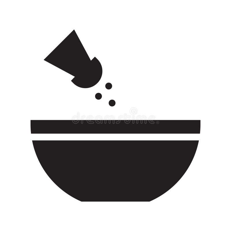 Αλατισμένο επίπεδο διανυσματικό εικονίδιο glyph διανυσματική απεικόνιση