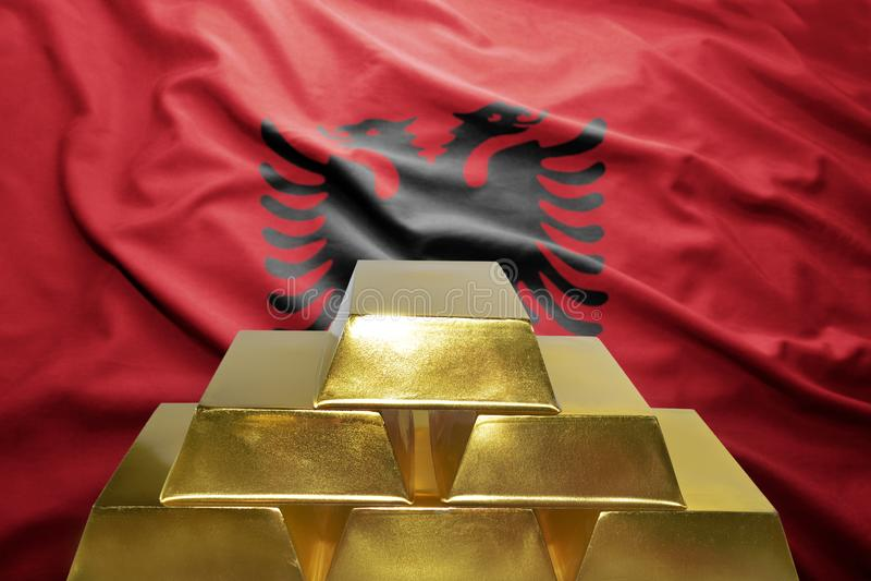Αλβανικές χρυσές επιφυλάξεις στοκ φωτογραφία με δικαίωμα ελεύθερης χρήσης