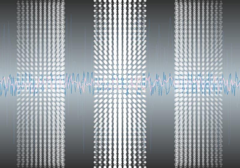 Αλγόριθμοι στοιχείων Ανάλυση του σχεδίου Minimalistic Infographics πληροφοριών Επιστήμη, υπόβαθρο τεχνολογίας διάνυσμα στοκ εικόνες