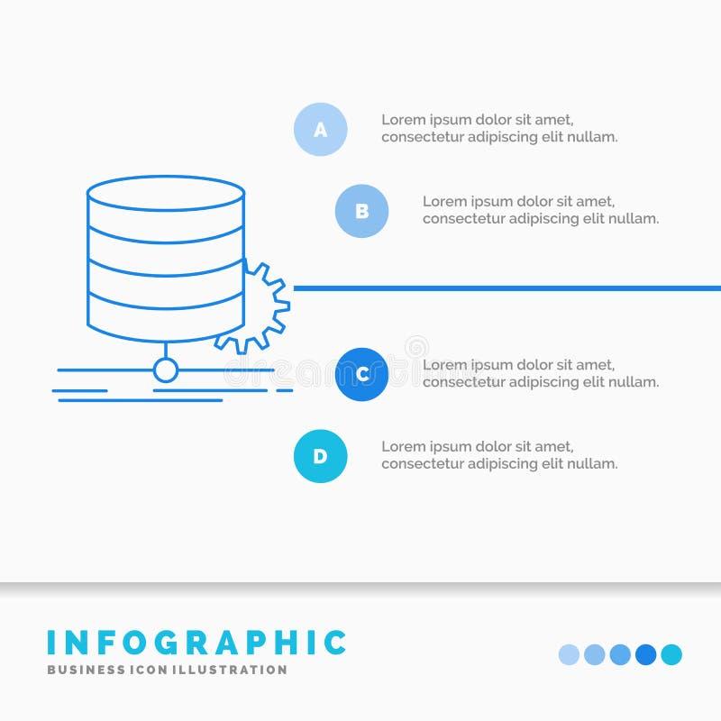Αλγόριθμος, διάγραμμα, στοιχεία, διάγραμμα, πρότυπο Infographics ροής για τον ιστοχώρο και παρουσίαση Γραμμών μπλε διάνυσμα ύφους απεικόνιση αποθεμάτων