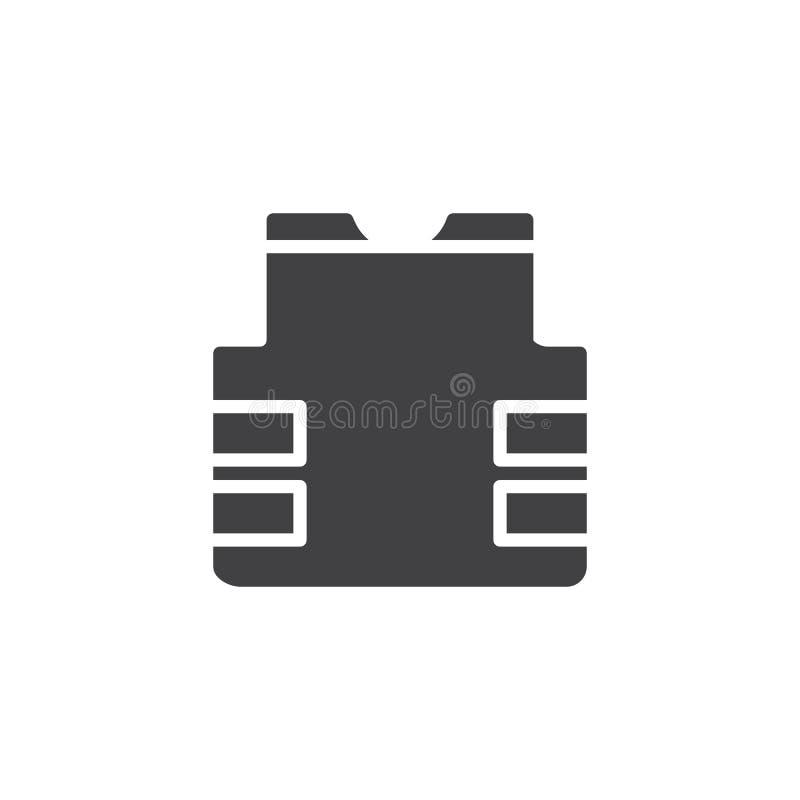 Αλεξίσφαιρο διάνυσμα εικονιδίων φανέλλων απεικόνιση αποθεμάτων