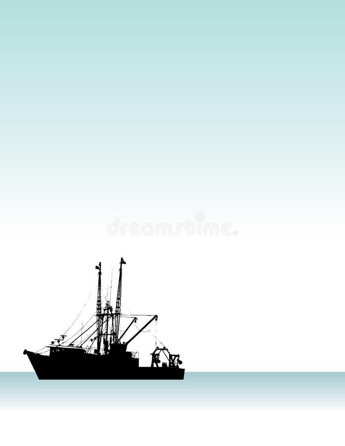 αλιεία βαρκών διανυσματική απεικόνιση
