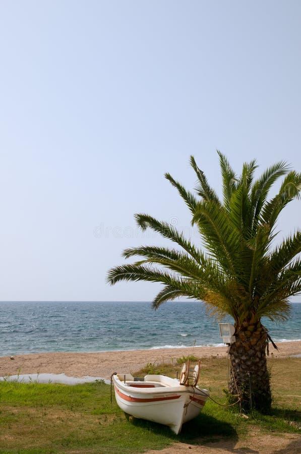 αλιεία ελληνικά βαρκών στοκ εικόνες
