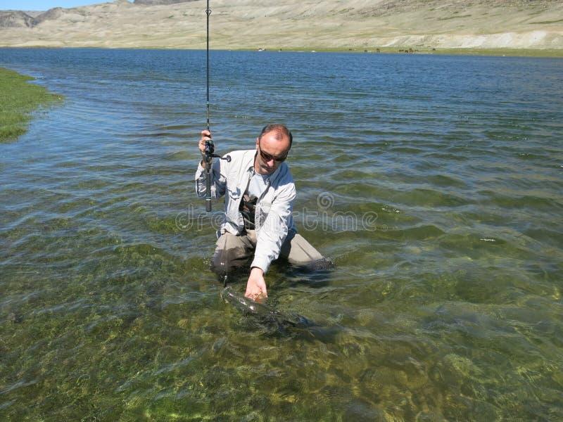 Αλιεία - μογγολικός osman στοκ φωτογραφίες
