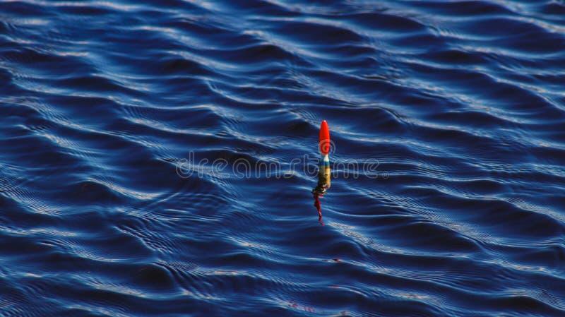 Αλιεία στον ποταμό Bobber στοκ εικόνα