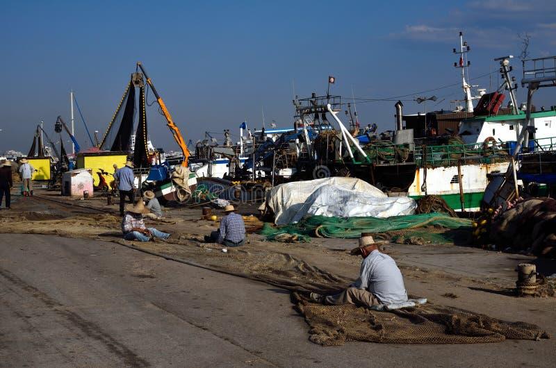 Αλιεία του λιμένα Kelibia στοκ φωτογραφία