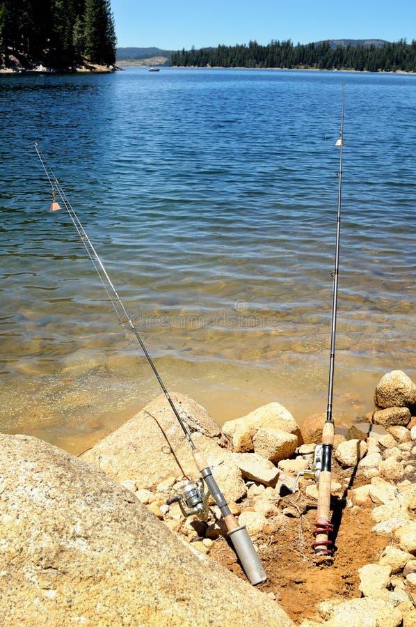 αλιεία των ράβδων δύο στοκ εικόνες με δικαίωμα ελεύθερης χρήσης