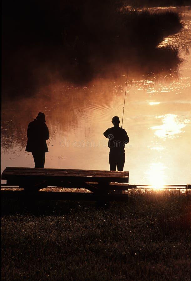 αλιεία φιλαράκων στοκ φωτογραφία