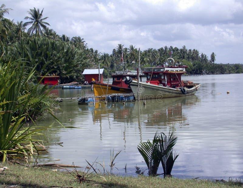 αλιεία 4 βαρκών στοκ εικόνες με δικαίωμα ελεύθερης χρήσης