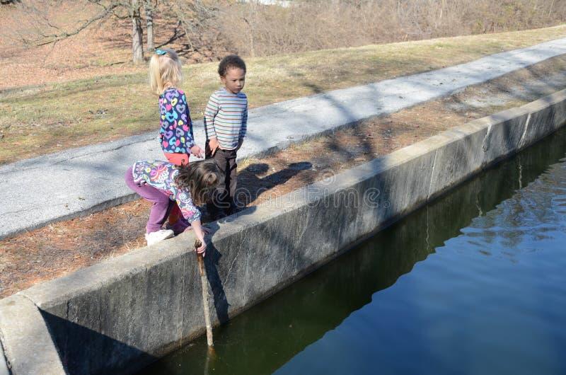 αλιεία pond3 στοκ εικόνες