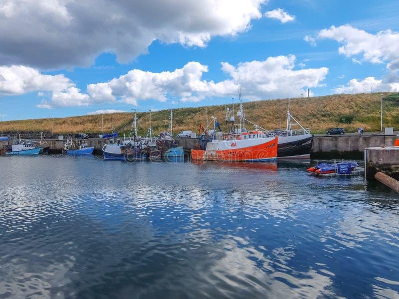 Αλιευτικά σκάφη που χαλαρώνουν στην ασφάλεια ενός λιμανιού στοκ φωτογραφία με δικαίωμα ελεύθερης χρήσης