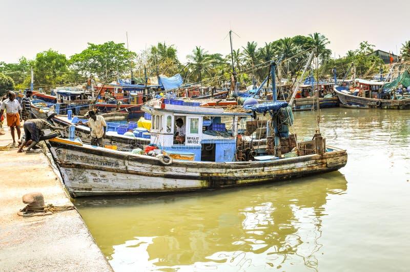 Αλιευτικά σκάφη στο Κεράλα, Ινδία στοκ εικόνες