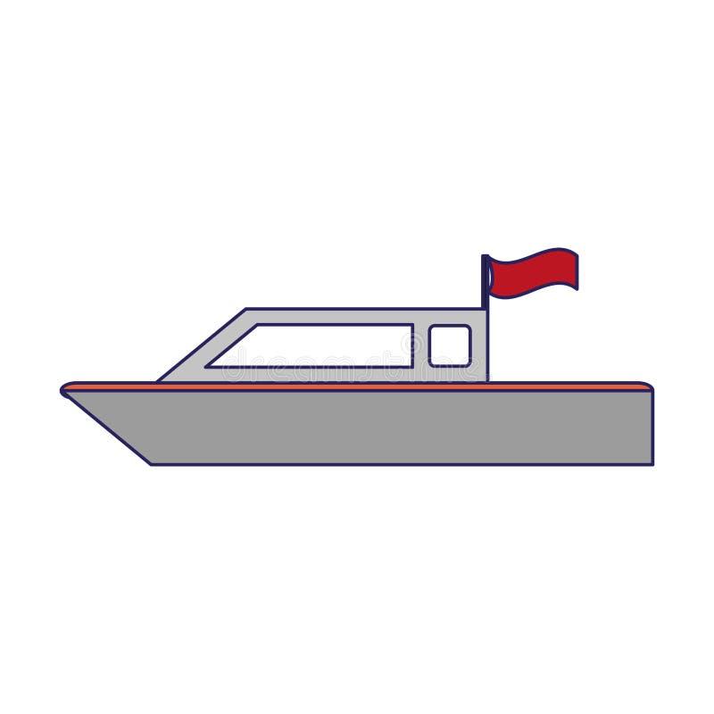 Αλιευτικό σκάφος που απομονώνεται ελεύθερη απεικόνιση δικαιώματος