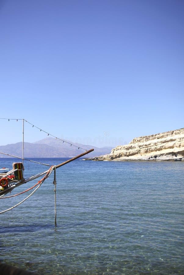 Αλιευτικό σκάφος στην Ελλάδα στοκ φωτογραφία