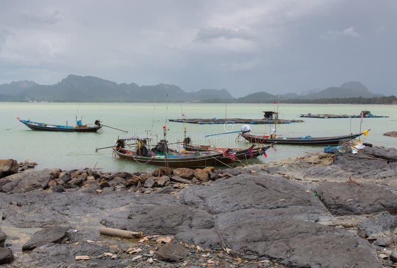 Αλιευτικό σκάφος στο νότο της Ταϊλάνδης στοκ φωτογραφίες με δικαίωμα ελεύθερης χρήσης
