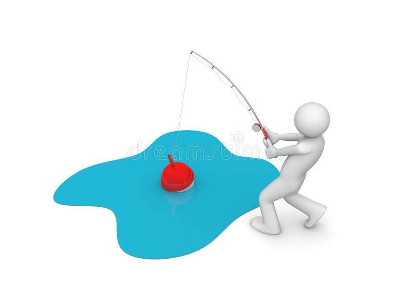 Download αλιεύοντας άτομο απεικόνιση αποθεμάτων. εικονογραφία από ποταμός - 13179272