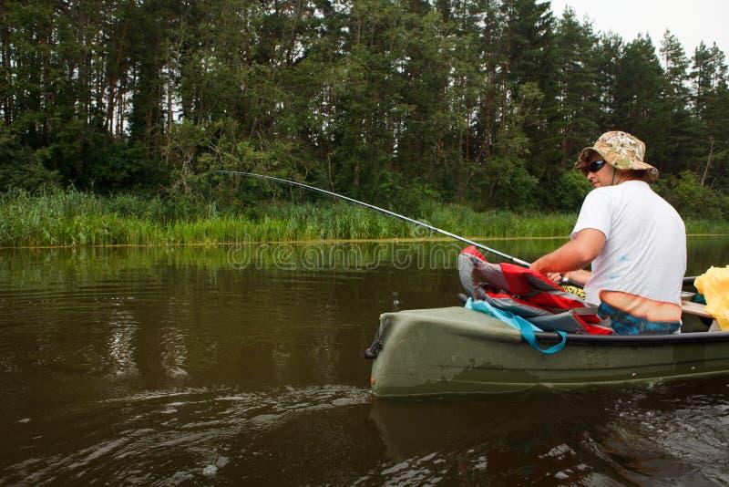 αλιεύοντας άτομο στοκ εικόνα με δικαίωμα ελεύθερης χρήσης