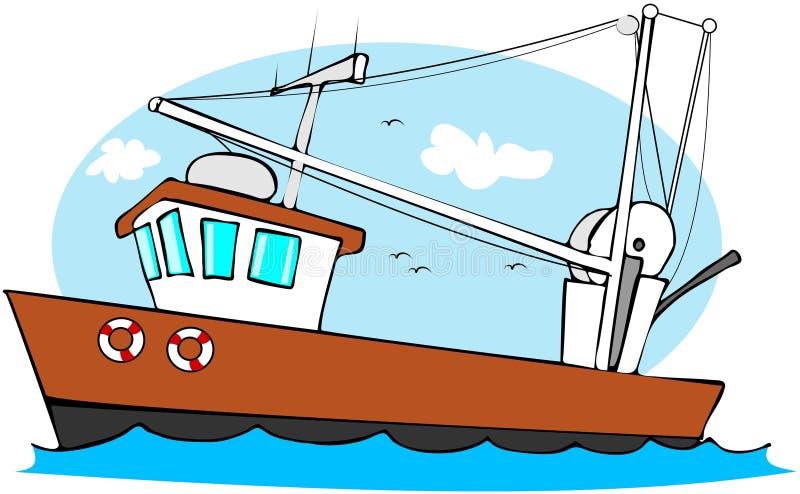 αλιεύοντας αλιευτικό π&l απεικόνιση αποθεμάτων