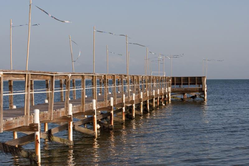 αλιεύοντας αποβάθρα της Φλώριδας στοκ φωτογραφία