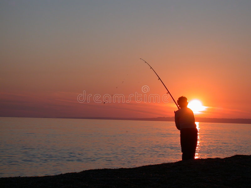 αλιεύοντας θάλασσα στοκ εικόνες