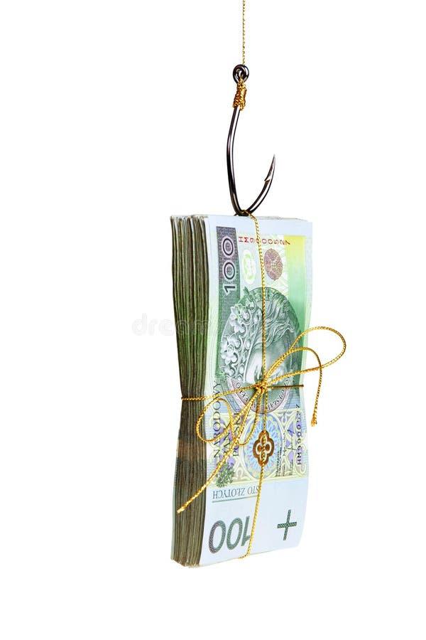 αλιεύοντας χρήματα αγκι&si στοκ εικόνα