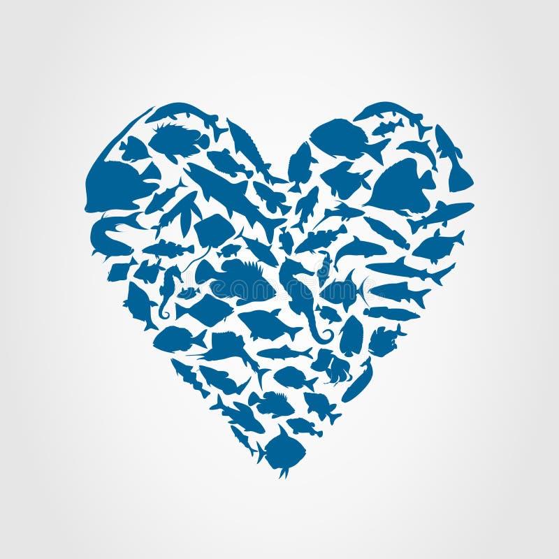 αλιεύστε την καρδιά ελεύθερη απεικόνιση δικαιώματος