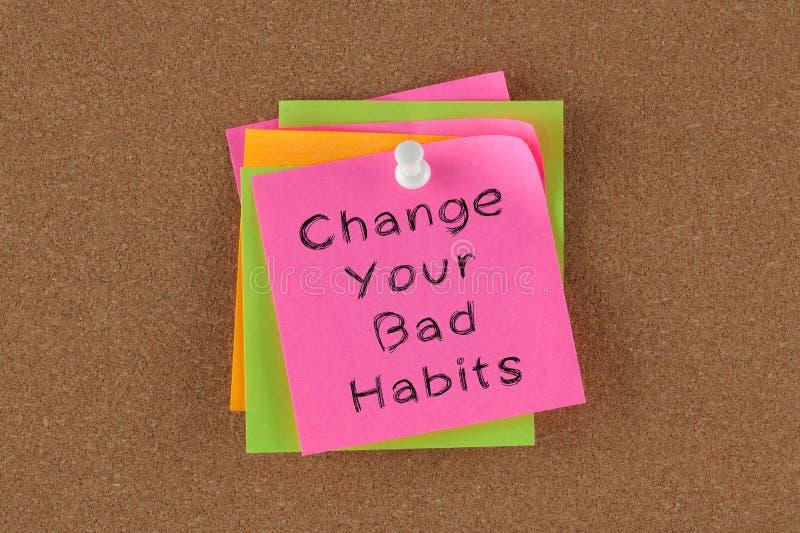 Αλλάξτε τις κακές συνήθειές σας στοκ φωτογραφία