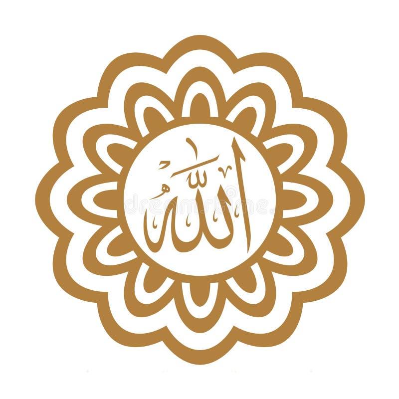 Αλλάχ ο Θεός ο μεγάλος, στην αραβική γλώσσα ελεύθερη απεικόνιση δικαιώματος