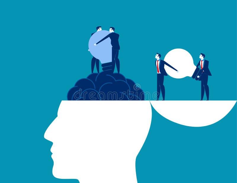 αλλαγή Βολβός και αλλαγή εκμετάλλευσης επιχειρησιακών ομάδων Διανυσματική απεικόνιση επιχειρησιακών ιδεών έννοιας διανυσματική απεικόνιση