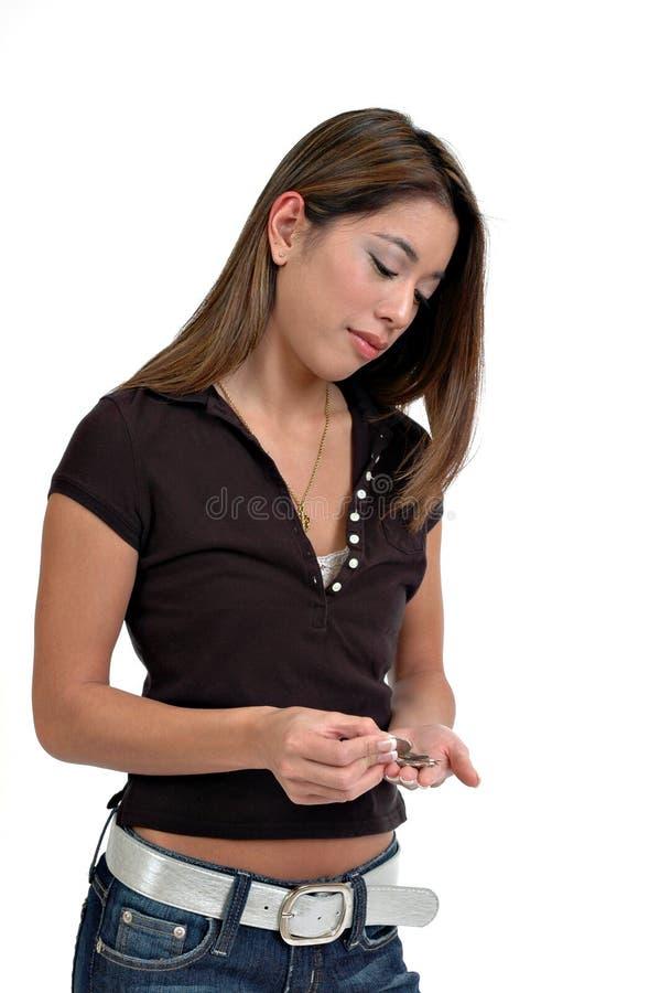Download αλλαγή στοκ εικόνα. εικόνα από χέρια, γυναίκα, νομίσματα - 1545651