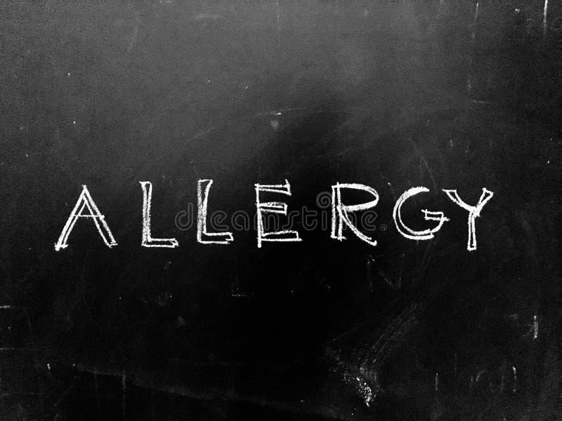 Αλλεργία χειρόγραφη στον πίνακα στοκ εικόνα με δικαίωμα ελεύθερης χρήσης