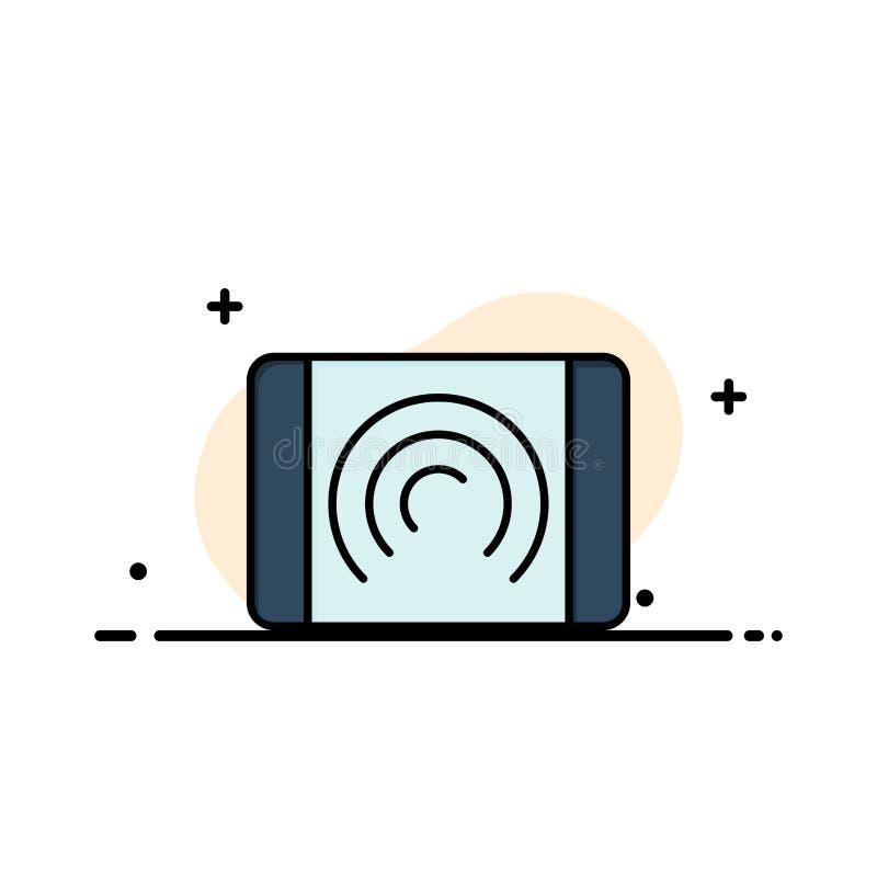 Αλληλεπίδραση, χρήστης, αφή, πρότυπο επιχειρησιακών λογότυπων διεπαφών Επίπεδο χρώμα ελεύθερη απεικόνιση δικαιώματος