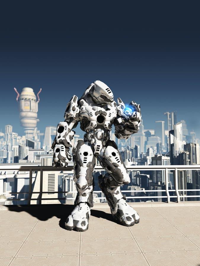 Αλλοδαπή μάχη Droid - ρολόι πόλεων ελεύθερη απεικόνιση δικαιώματος