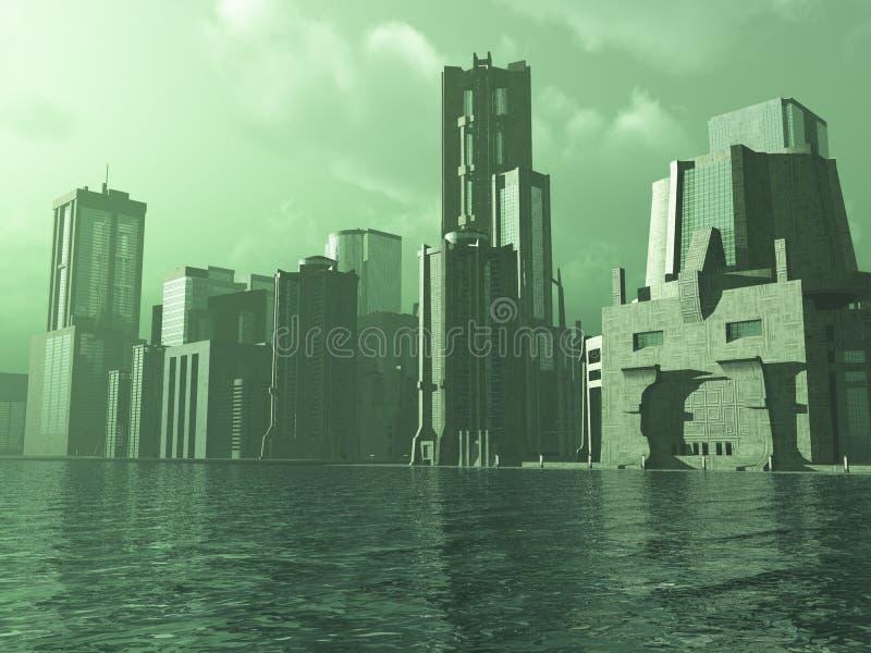 αλλοδαπή πόλη ελεύθερη απεικόνιση δικαιώματος