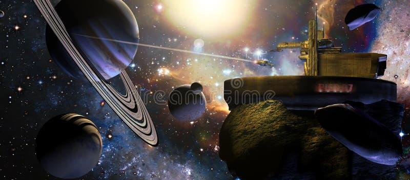 Αλλοδαπός διαστημικός σταθμός ελεύθερη απεικόνιση δικαιώματος