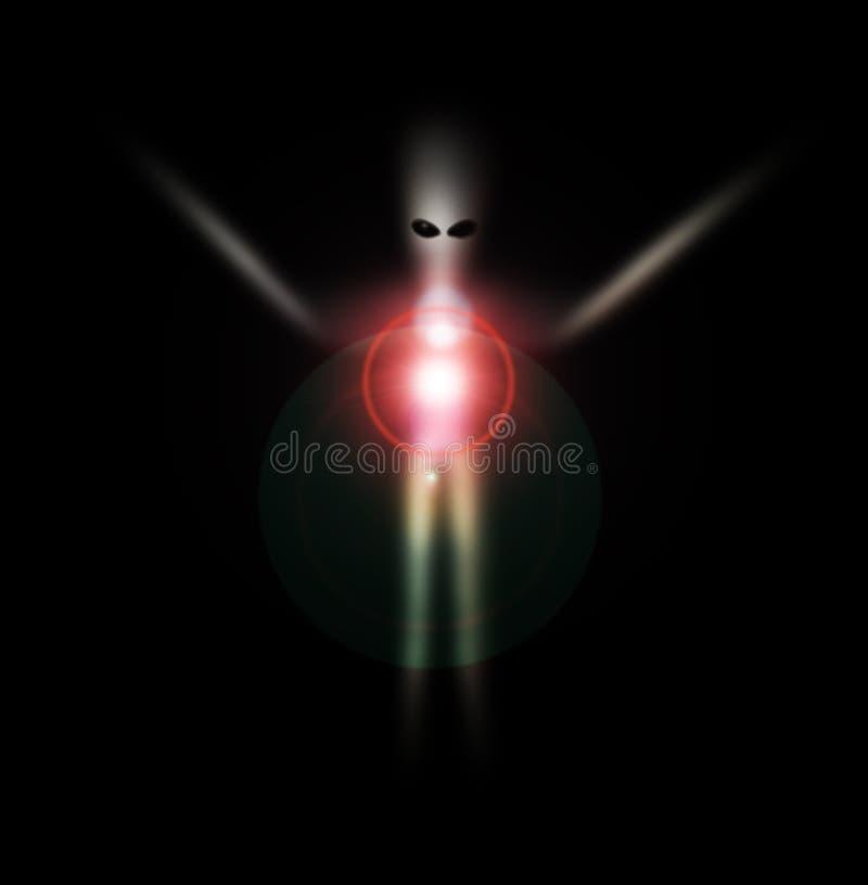 Αλλοδαπό φάντασμα 8 διανυσματική απεικόνιση