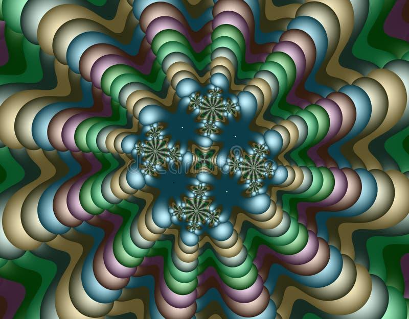 αλλοδαπό fractal τέχνης διανυσματική απεικόνιση