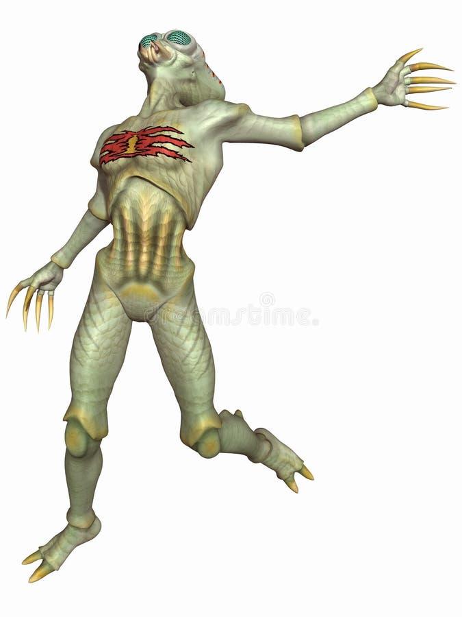 αλλοδαπό insectoid αριθμού φαντα διανυσματική απεικόνιση