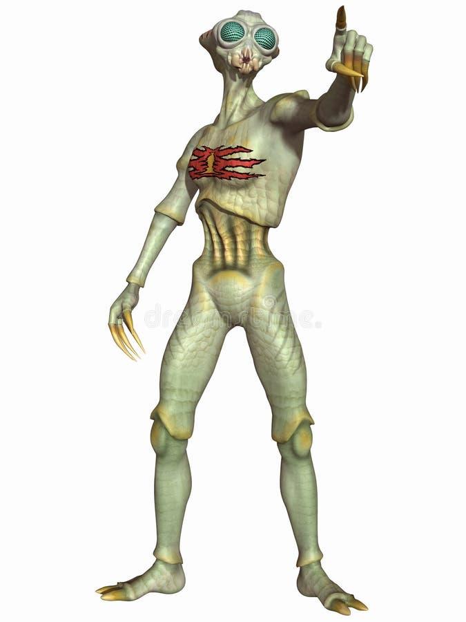 αλλοδαπό insectoid αριθμού φαντα απεικόνιση αποθεμάτων