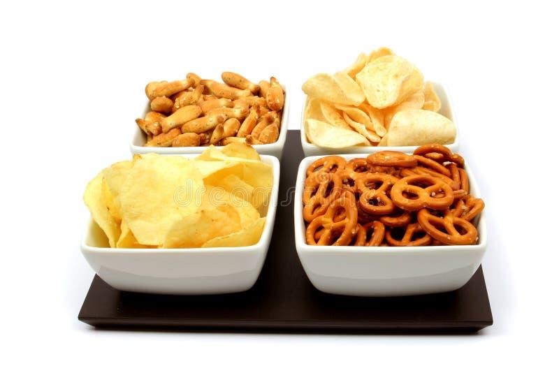 αλμυρά πρόχειρα φαγητά στοκ εικόνα