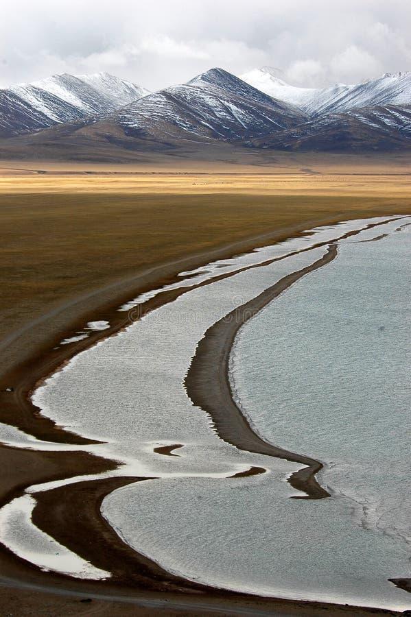 αλμυρό δευτερεύον ύδωρ λιμνών στοκ φωτογραφίες