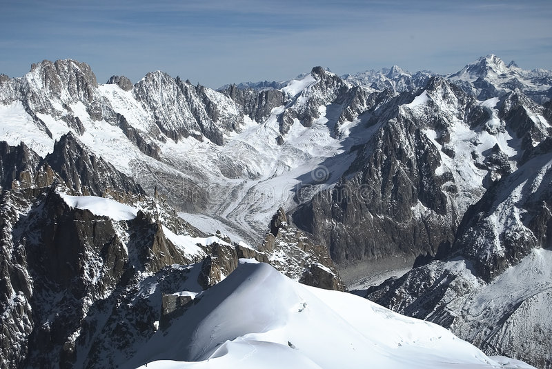 Download αλπική γαλλική σκηνή στοκ εικόνα. εικόνα από αιχμές, παγετώνας - 50057