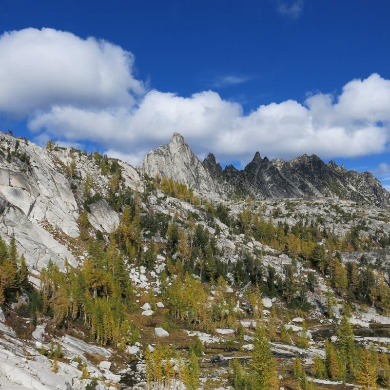 Αλπική περιοχή λιμνών enchantments του πολιτεία της Washington στοκ εικόνες