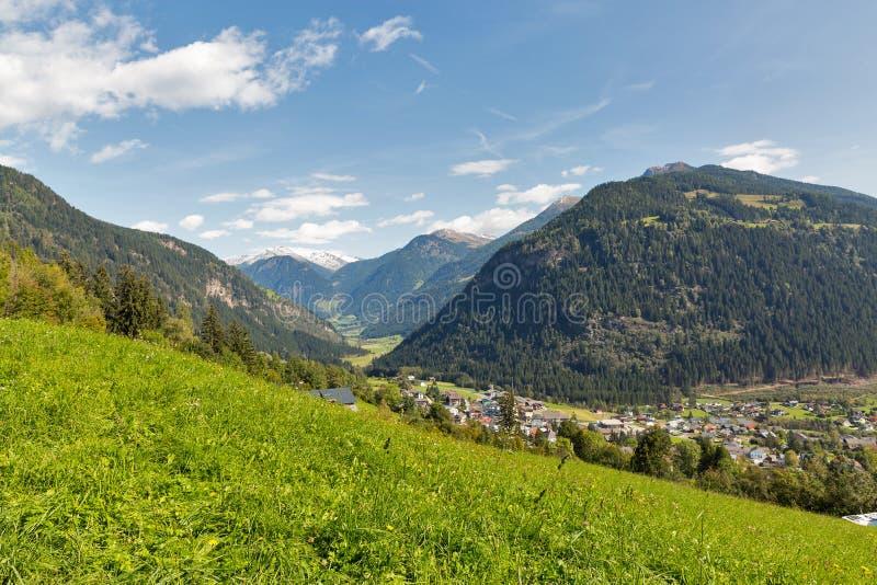 Αλπικό αγροτικό τοπίο σε δυτικό Carinthia, Αυστρία στοκ φωτογραφία