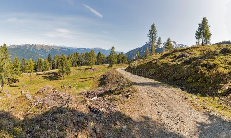 Αλπικό πανόραμα τοπίων σε δυτικό Carinthia, Αυστρία στοκ φωτογραφία με δικαίωμα ελεύθερης χρήσης