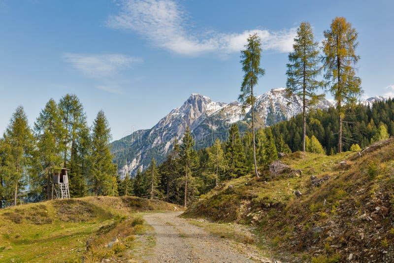 Αλπικό τοπίο βουνών σε δυτικό Carinthia, Αυστρία στοκ φωτογραφίες
